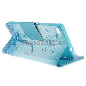 Peňaženkové puzdro Huawei Ascend P8 - vodný kvet - 4