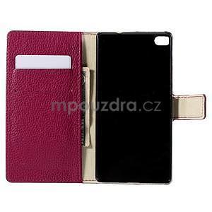 Peňaženkové kožené puzdro Huawei Ascend P8 - rose - 4