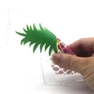 Transparentní gelový obal na Huawei Ascend P8 Lite - ananas - 4
