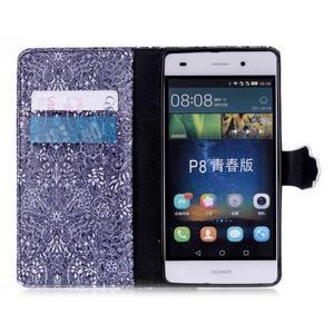 Puzdro na mobil Huawei P8 Lite - textury květin - 4