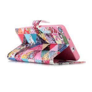 Puzdro na mobil Huawei P8 Lite - koláž trojúhelníčků - 4