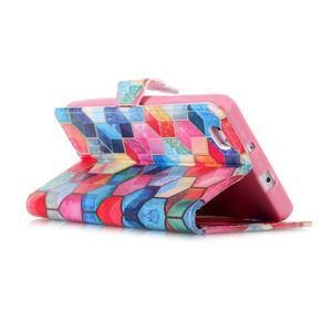 Puzdro pre mobil Huawei P8 Lite - farebné hexagony - 4