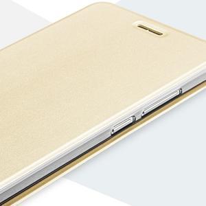 Vintage PU kožené puzdro na mobil Huawei Mate 8 - zlaté - 4