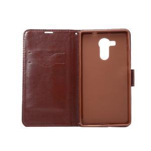 Jeans PU kožené puzdro na mobil Huawei Mate 8 - černomodré - 4