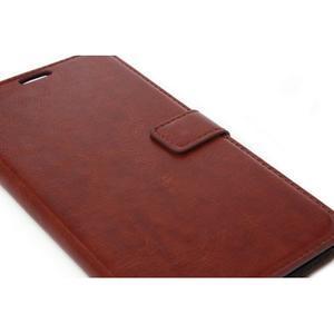 Peňaženkové puzdro na Huawei Mate 8 - hnedé - 4