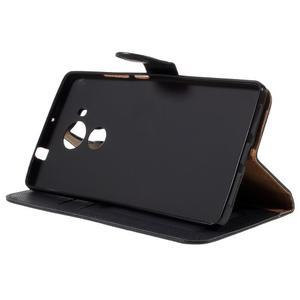Clothy PU kožené puzdro na Huawei Mate 8 - čierne - 4