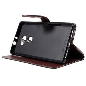 Knižkové PU kožené puzdro na mobil Huawei Mate S - čierne - 4