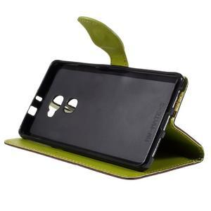 Knižkové PU kožené puzdro na mobil Huawei Mate S - hnedé - 4