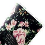 Softy gelový obal na mobil Huawei Mate S - květiny na černém pozadí - 4/4