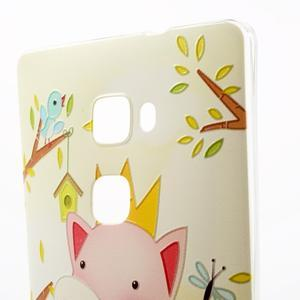 Softy gelový obal na mobil Huawei Mate S - zamilované prasátko - 4