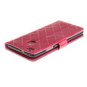 Luxury PU kožené peňaženkové puzdro na Huawei P9 Lite - rose - 4