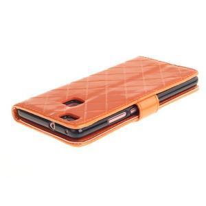 Luxury PU kožené peňaženkové puzdro na Huawei P9 Lite - oranžové - 4