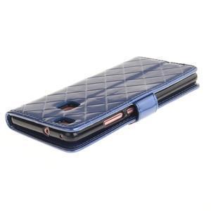 Luxury PU kožené peněženkové pouzdro na Huawei P9 Lite - modré - 4