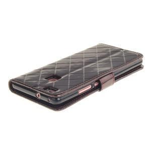Luxury PU kožené peňaženkové puzdro na Huawei P9 Lite - coffee - 4