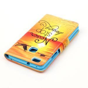 Patter PU kožené puzdro na mobil Huawei P9 Lite - neprestávaj snívať - 4