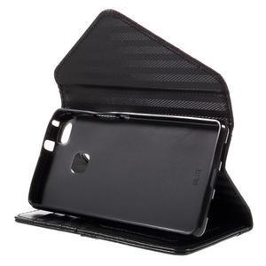 Penženkové pouzdro na mobil Huawei P9 Lite - hnědé/černé - 4
