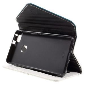 Penženkové pouzdro na mobil Huawei P9 Lite - modrozelené/bílé - 4
