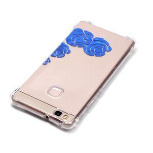 Lacqe geový obal na Huawei P9 Lite - modré růže - 4