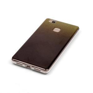 Gradient třpitivý gelový obal na Huawei P9 Lite - černý - 4