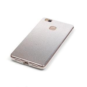 Gradient třpitivý gelový obal na Huawei P9 Lite - šedý - 4