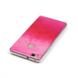 Gradient třpitivý gelový obal na Huawei P9 Lite - červený - 4