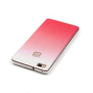 Gradient třpitivý gelový obal na Huawei P9 Lite - rose - 4