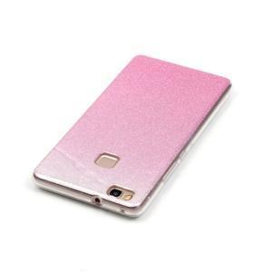 Gradient třpitivý gelový obal na Huawei P9 Lite - růžový - 4