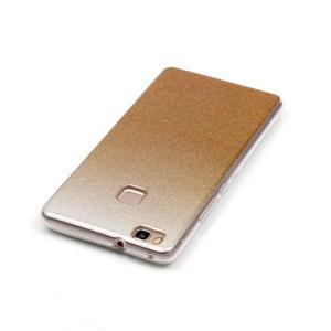 Gradient třpitivý gelový obal na Huawei P9 Lite - zlatý - 4