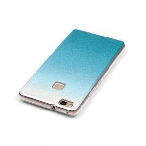 Gradient třpitivý gelový obal na Huawei P9 Lite - světlemodrý - 4