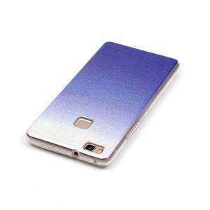 Gradient třpitivý gelový obal na Huawei P9 Lite - tmavěmodrý - 4