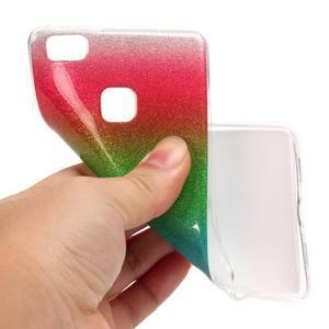 Gradient třpitivý gelový obal na Huawei P9 Lite - mix barev I - 4