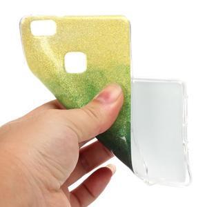Gradient třpitivý gelový obal na Huawei P9 Lite - mix barev II - 4
