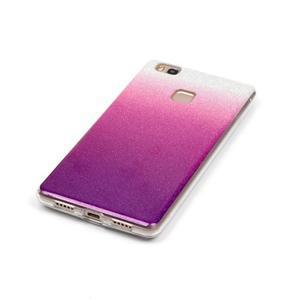 Gradient třpitivý gelový obal na Huawei P9 Lite - stříbrný/fialový - 4