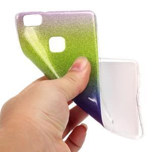 Gradient třpitivý gelový obal na Huawei P9 Lite - mix barev III - 4