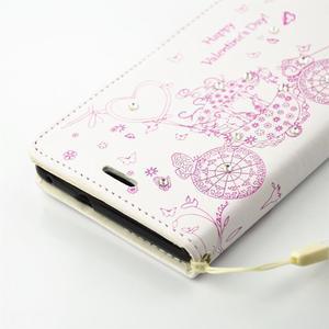 Loves PU kožené pouzdro s kamínky na Huawei P9 Lite - bílé - 4