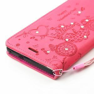 Loves PU kožené pouzdro s kamínky na Huawei P9 Lite - rose - 4