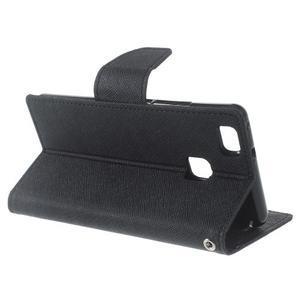 Diary PU kožené pouzdro na telefon Huawei P9 Lite - černé - 4