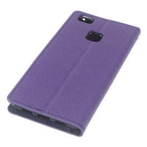 Diary PU kožené pouzdro na telefon Huawei P9 Lite - fialové - 4
