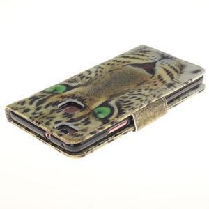 Lethy knižkové puzdro na telefon Huawei P9 Lite - leopard - 4
