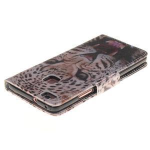 Lethy knižkové puzdro na telefon Huawei P9 Lite - gepard - 4