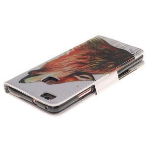 Lethy knížkové pouzdro na telefon Huawei P9 Lite - mýtický vlk - 4
