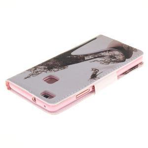 Lethy knižkové puzdro na telefon Huawei P9 Lite - pekelná črievica - 4