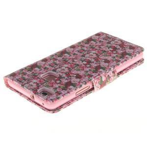 Lethy knižkové puzdro na telefon Huawei P9 Lite - koláž ruží - 4