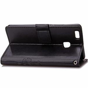 Cloverleaf penženkové puzdro na Huawei P9 Lite - čierne - 4