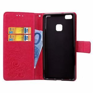 Cloverleaf penženkové pouzdro na Huawei P9 Lite - rose - 4