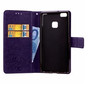 Cloverleaf peněženkové pouzdro na Huawei P9 Lite - fialové - 4