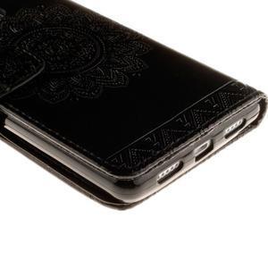 Mandala PU kožené pouzdro na Huawei P9 Lite - černé - 4