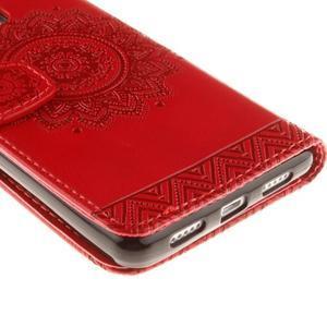 Mandala PU kožené pouzdro na Huawei P9 Lite - červené - 4
