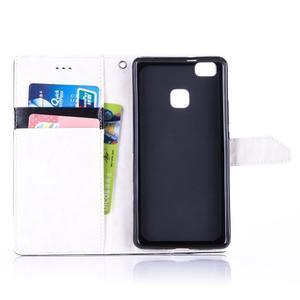 Duocolory PU kožené pouzdro na Huawei P9 Lite - bílé/černé - 4
