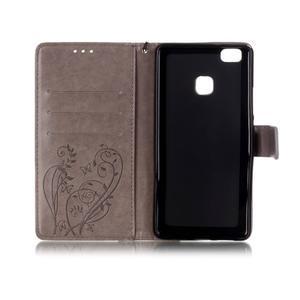 Magicfly knížkové pouzdro na telefon Huawei P9 Lite - šedé - 4